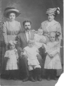 Helen and Karal Waitkunas, likely with children Bernice, Tony, Francis and Veronica, plus unknown woman.