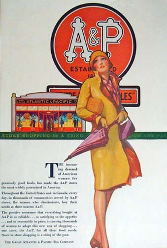 A&P 1929 Ladies Home Journal ad