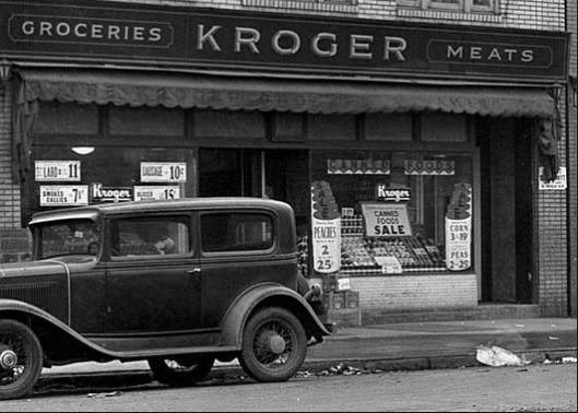 Kroger Market on Brookline Boulevard in 1933. by www.brooklineconnection.com Pittsburgh