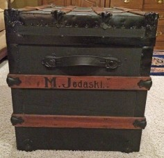 steamer trunk with name