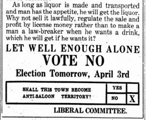 Booze.Vote NO on April 3, 1917 ISR, Apr. 2, 1917, p. 10