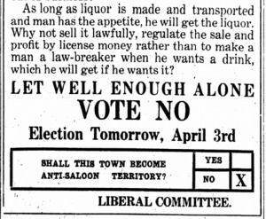 Booze.Vote NO on April 3, 1917 ISR, Apr. 2, 1917, p. 10