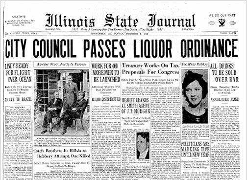 CityCouncilPassedLiquorOrd. ISJ, Dec.3, 1933 P1