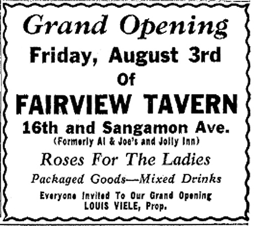 Fairview Tavern Opening Aug. 1951, ISJ, Aug. 3, 51, P. 20