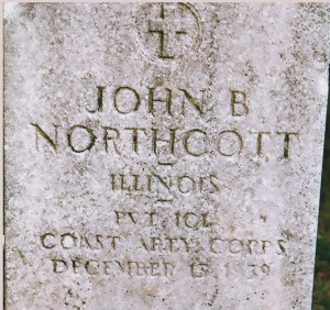 Northcott grave, photo by Jean Stroven, Findagrave.com