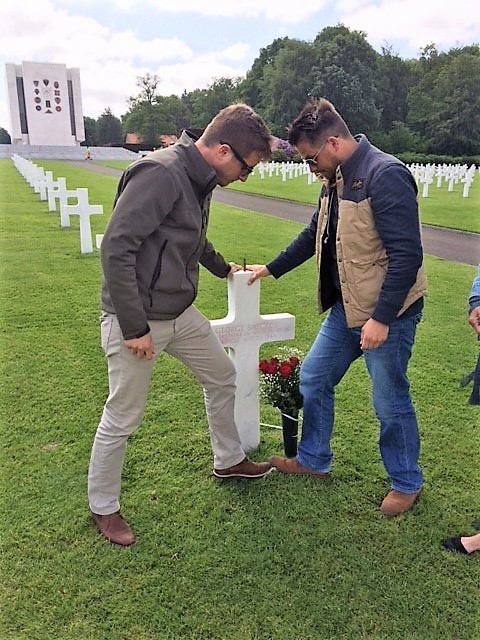 2018 Ardennes Cemetary Uncle George's Grave